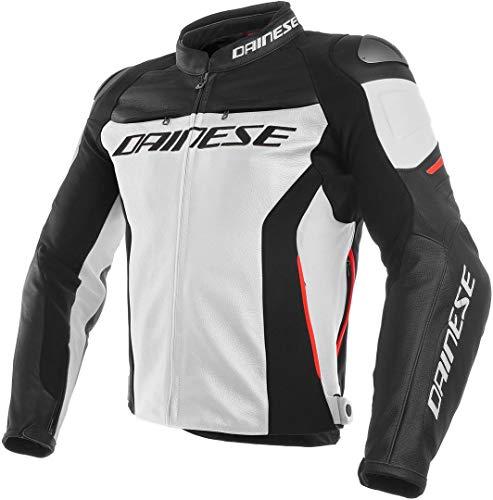 Dainese Racing Leder-Jacke Moto 3weiß/schwarz/rot 46Euro/36USA.