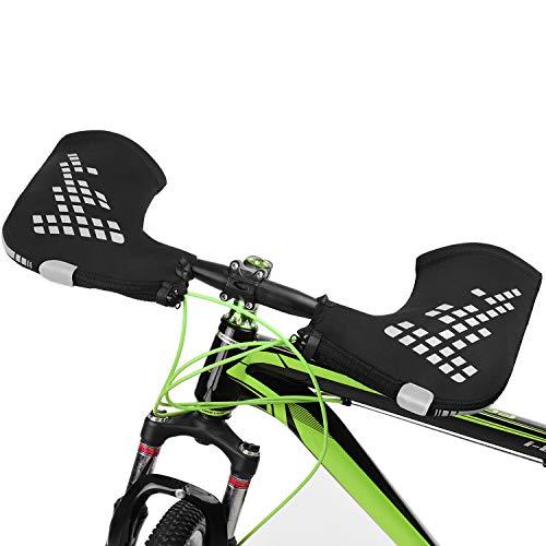 Lixada 1 Paar Lenkerhandschuhe Cyclist Fäustlinge für den Winter Wärmeabdeckung für Mountainbike MTB Motorrad Lenker Hände warm halten, Reflektierend