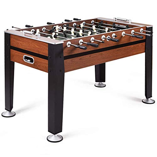 GOPLUS 54' Foosball Table, Soccer Game Table Competition Sized Football Arcade for Adults, Kids, Indoor Game Room Sport