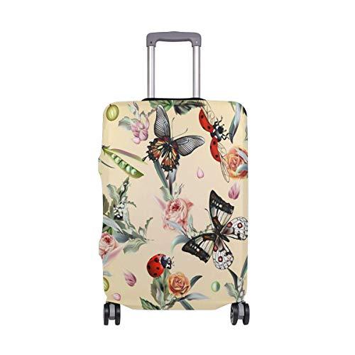 Retro Mariposa Mariposa Estampado Floral Viajeros Elección Equipaje de Viaje con Ruedas giratorias Maleta de Equipaje de 24 Pulgadas