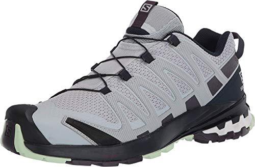 Salomon XA Pro 3D v8 W, Zapatillas de Trail Running para Mujer, Gris (Pearl Blue/Sweet Grape/Patina Green), 40 EU