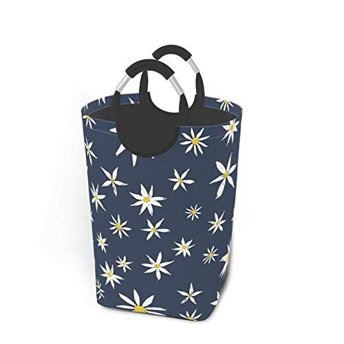 N\A Daisy On Tumblr - Cesto de lavandería Plegable portátil Azul, Soporte Organizador de cestas de Ropa Sucia con asa para Soporte de Libros de Juguete, Almacenamiento de Lavado