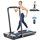 Under Desk Treadmill for Home,2 in 1 Folding Treadmill Machine with LED Display, Remote Control and Bluetooth Speaker, New for 2020, Installation-Free (Black)