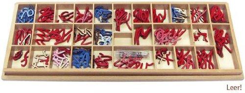 Box für Bewegliches Alphabet klein, kursiv