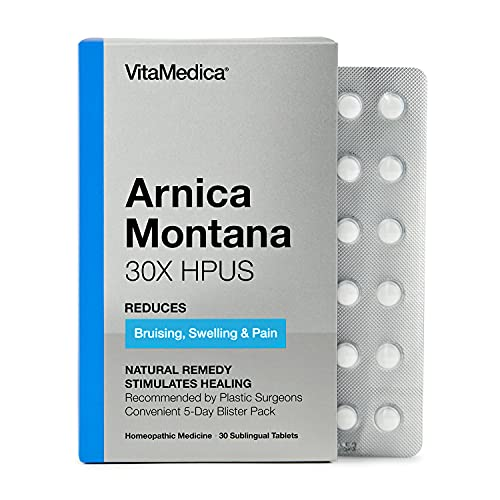 VitaMedica Arnica Montana 30X HPUS Tablets/Pills, Physician-Formulated, Convenient 5 Day Blister Pack Homeopathic for Bruising & Swelling