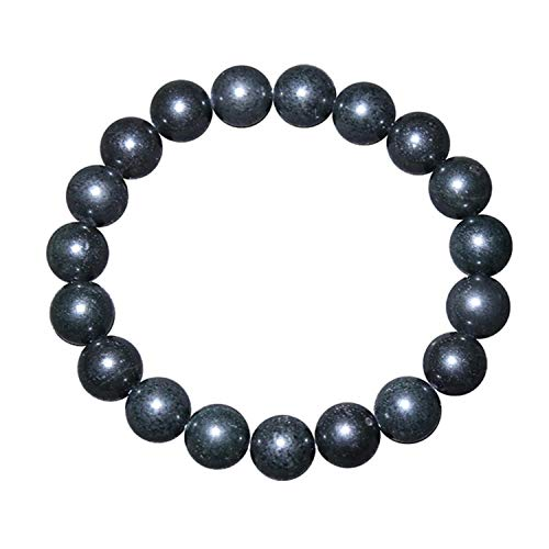 Ins hot selling jewelry Russian raw ore sub graphite natural stone bracelet shungite natural sub graphite Bracelet