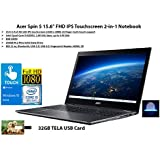 "2020 Newest Acer Spin 5 15.6"" FHD IPS Touchscreen 2-in-1 Notebook, Intel Quad-Core i5-8250U, 8GB DDR4, 256GB SSD, Fingerprint Reader, Windows 10 Home 