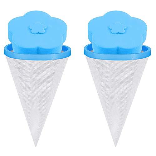 BrightBlue Bolsa de malla flotante para lavadora, filtro de pelo, bolsa de red flotante, lavadora, lavadora, pelusa trampa de flores, tipo 2 unidades