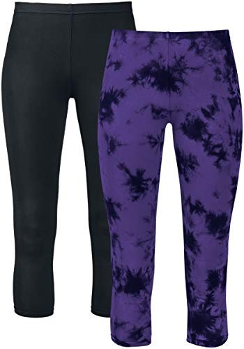 Gothicana by EMP Made For Double Comfort Mujer Leggins Negro/Lila,