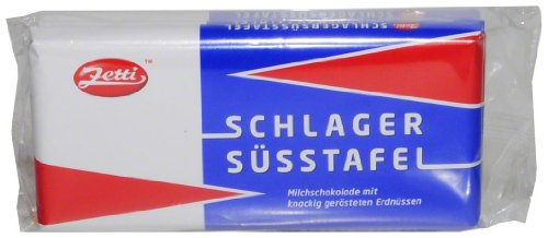 Goldeck Süßwaren GmbH: Zetti Schlagersüsstafel - 1 Packung mit 3 Tafeln à 100 gr