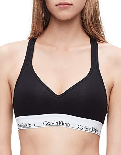 Calvin Klein Women's Modern Cotton Lightly Lined Bralette, Black, Small