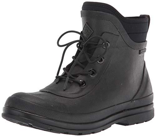 Muck Boot womens Muck Originals Lace Up Rain Boot, Black, 8 US