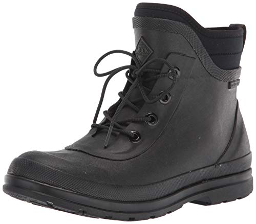 Muck Boot womens Muck Originals Lace Up Rain Boot, Black, 9 US