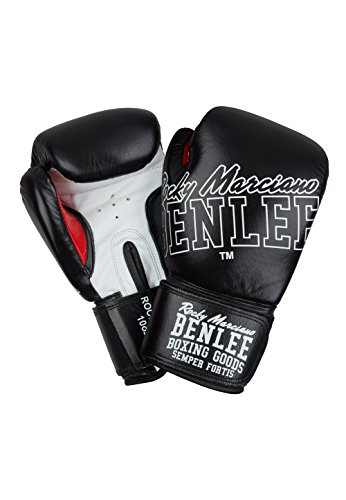 BENLEE Rocky Marciano Rockland Boxhandschuhe, Black/White, 12 oz