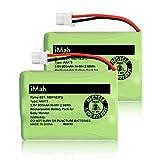 iMah Ryme B21 Battery Compatible with Motorola Baby Monitor MBP33XLPU MBP481PU MBP482PU MBP483PU (only fits MBP33S MBP36 MBP36S Newer 800mAh Version) VTech BT207695 VM312 VM3251 VM3252 VM3261, 2-Pack