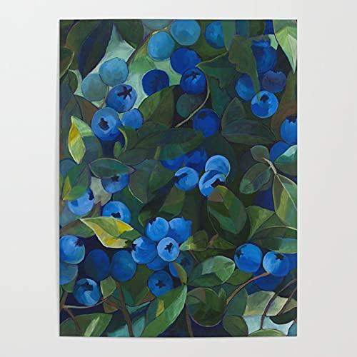 Malowanie według numerów, Borówka amerykańska DIY obraz olejny dla dorosłych, dzieci, początkujących DIY zestawy upominkowe do malowania na płótnie, 40x50cmBezszkieletowy