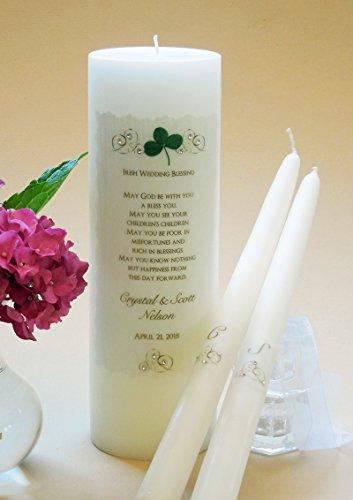 Gold Elegance Wedding Unity Candles - Irish