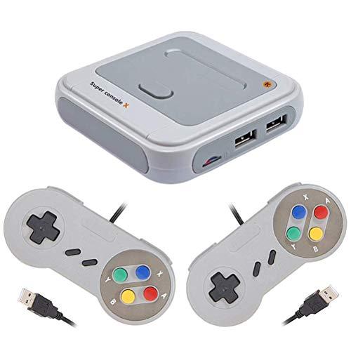Enkomy Almohadilla de Juego del Controlador USB, Controlador de Consola de Juegos Retro estupendo R8 con Consola estupenda de Gamepad USB Dual
