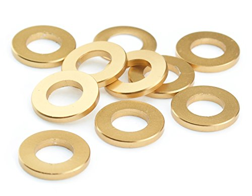 Unterlegscheiben M5 M6 Aluminium Scheibe DIN 125 Alu gold eloxiert