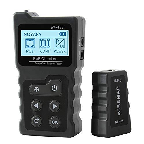 Noyafa - Tester per cavi di rete, rileva tensione e corrente, con funzione PoE , NF-488