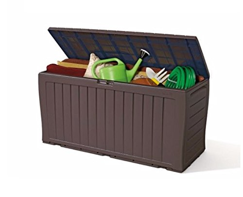 Keter Plastic Storage Box Container Outdoor Garden...