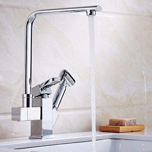 ZLININ Grifo lavabo mezclador cascada baño antiguo tire grifo de la cocina latón cuerpo lleno de y platos fríos y lavabo lavabo para girar el plato mezclador B