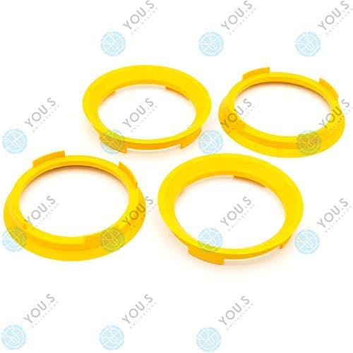 YOU.S ZENTRIERRING Gelb für ALUFELGEN 70,4 x 60,1 mm (4 Stück) - A704601