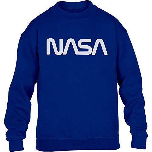 Shirtgeil NASA Vintage Logo Galaxy Stampa Retro Outfit Maglione per Bambini e Ragazzi 12-14 Anni (152-164cm) Blu