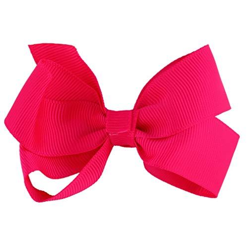 1pc nieuwe diy meisjes haar accessoire lint strik boog geen clip decoratie prachtig ontworpen duurzaam prachtigred