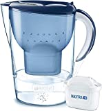 BRITA Marella XL Water Filter, Compatible with BRITA MAXTRA+ Cartridges, Water Filter that Helps with the Reduction of Limescale and Chlorine, in Blue