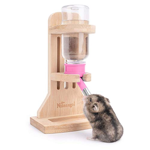 Niteangel Water Bottle with Stand for Small pet Rodents(Pink)