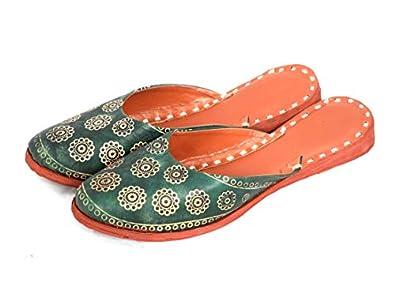 Apratim WomenGirl Kolhapuri Slippers/Flat Chappals Green Color