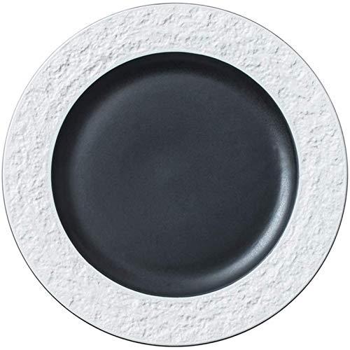 ZHEYANG Platos Bandeja Bandeja Creativa Occidental Placa Plato Filete Placa Placa del Desayuno de Estilo Occidental de cerámica Snack-Vajilla (Color : Blanco, Talla : 27.6cm)
