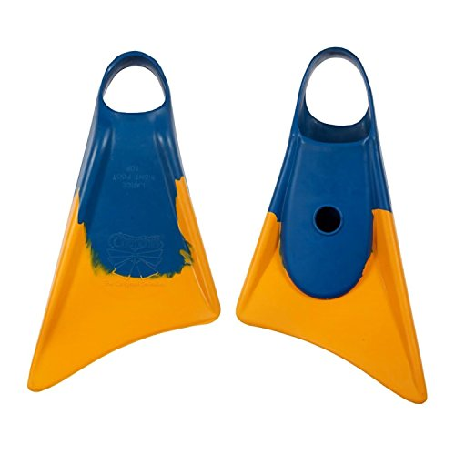 Churchill Makapuu Swimfins -Blue/Yellow - XL