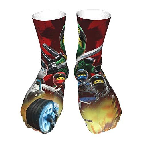 Hongfago Moda para adultos calcetines unisex calcetines casuales cálidos calcetines deportivos calcetines gruesos clásico Ninja-Go