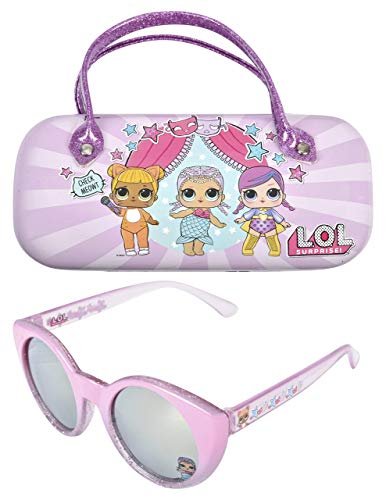 LOL Surprise Kids Sunglasses for Girls, Toddler Sunglasses with Kids Glasses Case