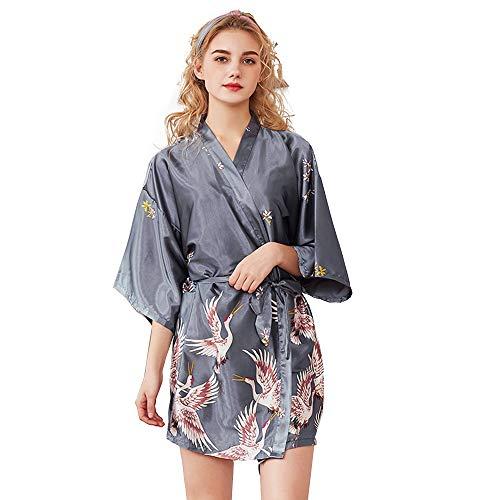 Mini Balabala Batas Largas Kimono para Mujer Lenceria Ropa de Dormir Camisón de Encaje