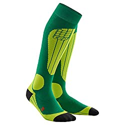 CEP - SKI Thermo Socks for women | Warm thermal socks for winter sports in green Size III
