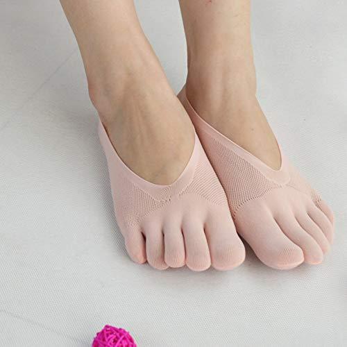 Benedict Calcetines ortopédicos de compresión con dedos para mujer, con forro de gel transpirable y almohadillas de gel