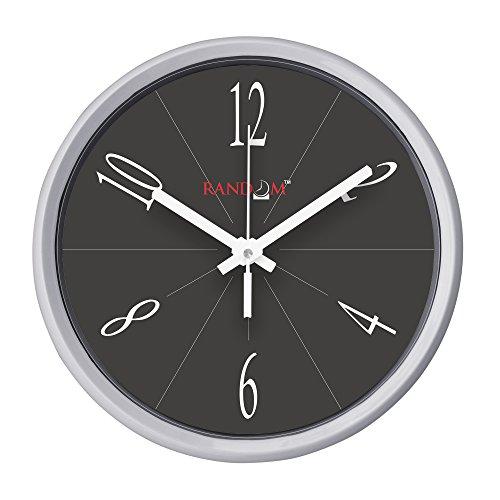 Random Plastic Round Wall Clock (30 cm X 30 cm X 5 cm, Rc-6064, White)