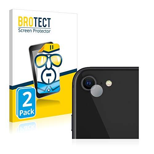 BROTECT Protector Pantalla Compatible con Apple iPhone SE 2 2020 (Cámara) Protector Transparente (2 Unidades) Anti-Huellas