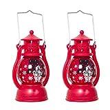 OSALADI 2 Stück Weihnachtsmann Laterne Weihnachten Hängelampen Laterne für Gartenhaus Tisch Party dekorativ