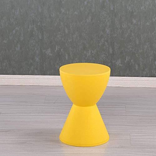 Taburete para Pies, Mesa Auxiliar Moderna De Acento para Uso En Interiores Y Exteriores / 17x11.M8inches(Color:Amarillo)