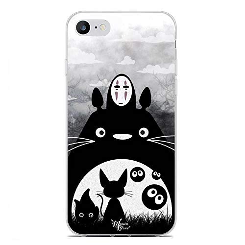 LAMMING Clear Case for Apple iPhone 7/SE 2020, Totoro-Neighbor Tonari Cat 8 Coque Silikon Thin Soft Crystal Rubber Anti-Slip