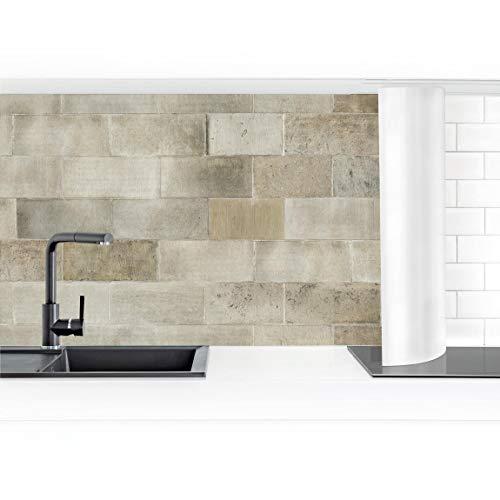 Bilderwelten Küchenrückwand Folie selbstklebend Ziegel Betonwand 70 x 300 cm Premium
