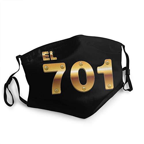 Keenl El Chapo Guz-Man 701 Face Cover Washable for Men Women Reusable Adjustable Decoration Dust Cover Black