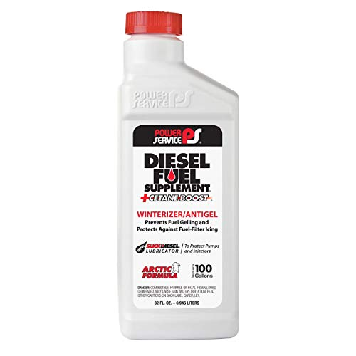Power Service 1025-12PK +Cetane Boost Diesel Fuel Supplement Anti-Freezer - 1 Quart, (Pack of 12)