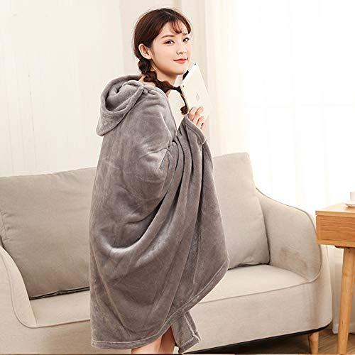 QWF Invierno Grueso y cómodo Pijamas con Capucha cálida Manta de Lana Sudadera para Adultos