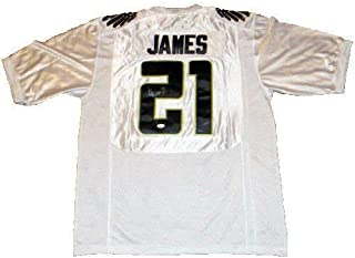 Lamichael James Autographed Signed Oregon Ducks White Bcs #21 Nike Jersey JSA