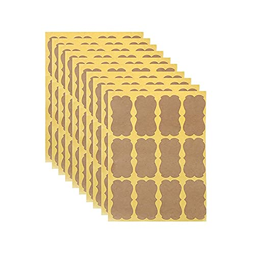 Newwiee - Etiquetas de papel kraft autoadhesivas ecológicas autoadhesivas de papel kraft para pizarras negras, para la casa, tarros o como regalo